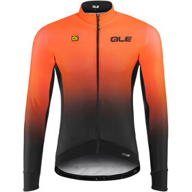 Alé Cycling PRS Dots DWR Langermede Sykkeltrøyer Herre Orange/Svart